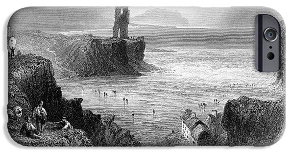 1840 iPhone Cases - IRELAND: BALLYBUNION, c1840 iPhone Case by Granger