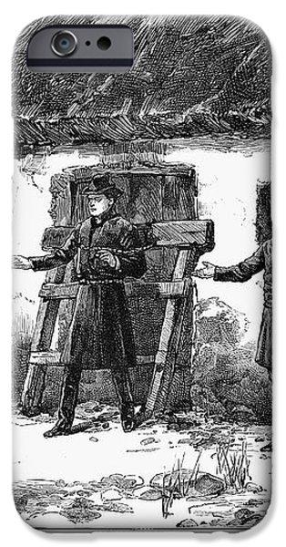 IRISH LAND LEAGUE, 1887 iPhone Case by Granger