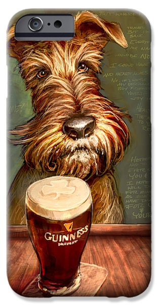 Terrier iPhone Cases - Irish Stout iPhone Case by Sean ODaniels