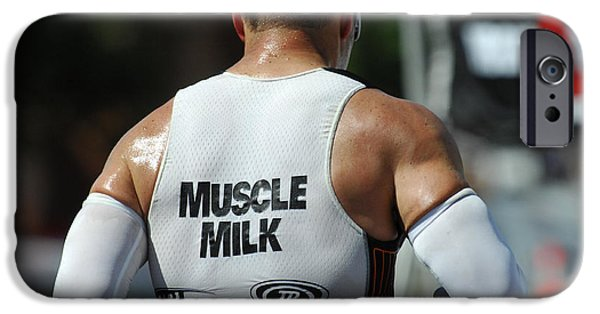 Ironman iPhone Cases - Ironman Muscle Milk iPhone Case by Bob Christopher