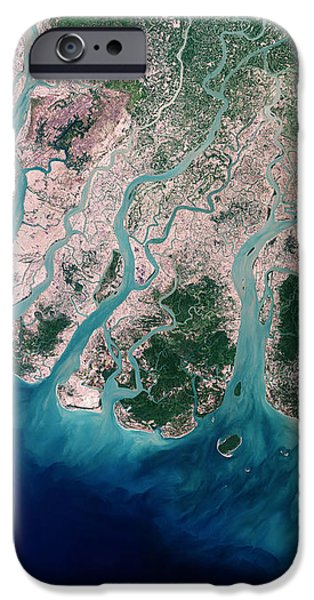Irrawaddy River Delta iPhone Case by NASA