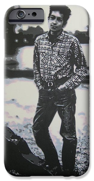 Ludzska Paintings iPhone Cases - Is there no one here that knows where Im at iPhone Case by Luis Ludzska