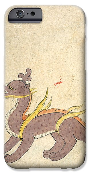 Serpent iPhone Cases - Islamic Dragon, 17th Century iPhone Case by Photo Researchers
