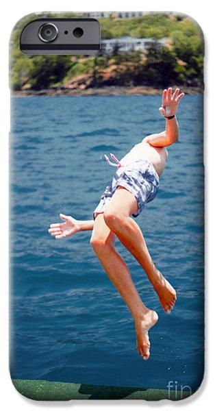 Whitsunday iPhone Cases - Island Hopping Boy iPhone Case by Vicki Ferrari