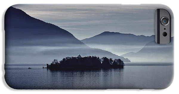 Island iPhone Cases - Island In Morning Mist iPhone Case by Joana Kruse