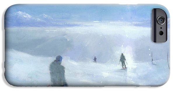 Skiing iPhone Cases - Islands in the Cloud iPhone Case by Steve Mitchell