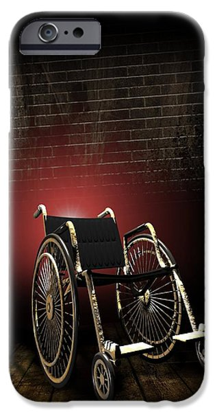 Ignored iPhone Cases - Isolation Through Disability, Artwork iPhone Case by Victor Habbick Visions