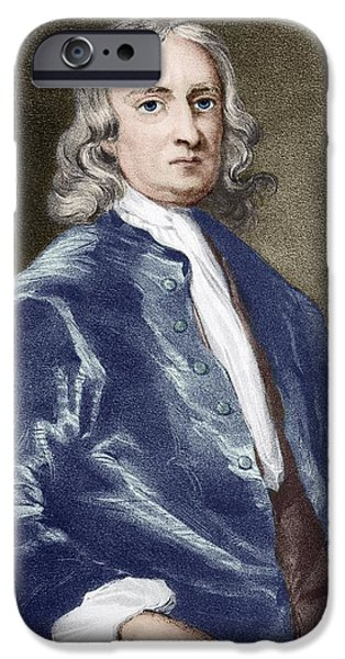 Issac Newton, English Physicist iPhone Case by Sheila Terry