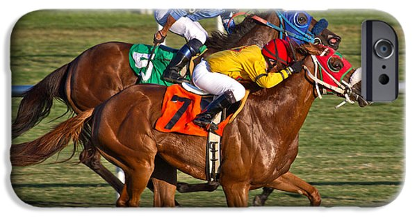 Horse Racing iPhone Cases - It Takes Talent iPhone Case by Betsy A  Cutler