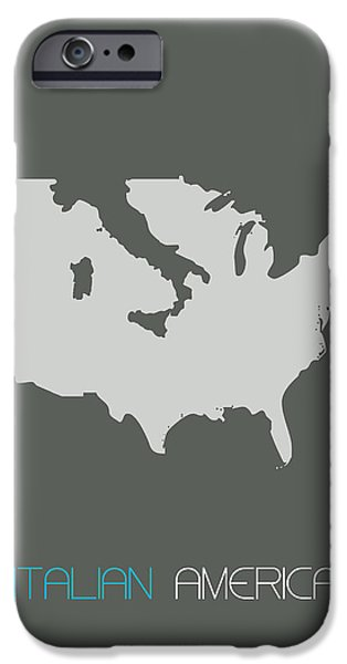 Patriotism iPhone Cases - Italian America Poster iPhone Case by Naxart Studio