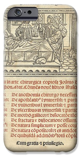 Consult iPhone Cases - Italian Book On Surgery, 1514 iPhone Case by King
