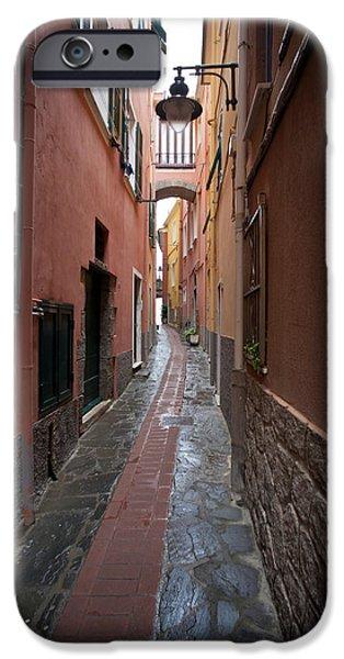 Corridor iPhone Cases - Italian Pathway iPhone Case by Mike Reid
