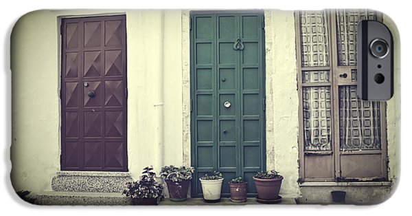 House iPhone Cases - Italy - doors iPhone Case by Joana Kruse