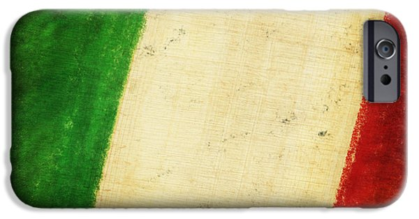 Antiques iPhone Cases - Italy flag iPhone Case by Setsiri Silapasuwanchai
