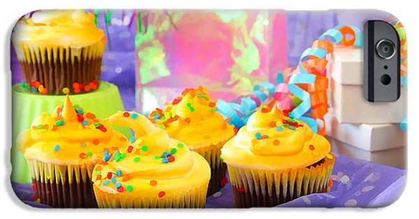 Party Birthday Party iPhone Cases - Its A Party iPhone Case by Darren Fisher