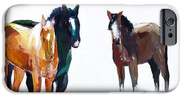 Horse iPhone Cases - Its All About The Horses iPhone Case by Frances Marino