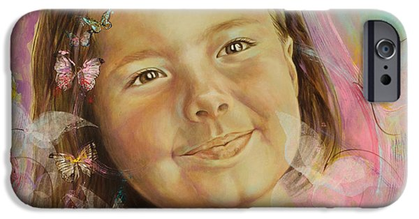 Innocence iPhone Cases - Ivanas portrait iPhone Case by Karina Llergo Salto