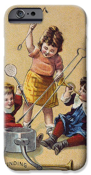 1880s iPhone Cases - IVORINE TRADE CARD, c1880 iPhone Case by Granger