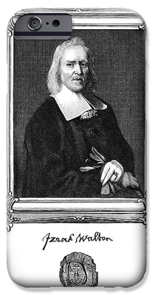 Autographed iPhone Cases - Izaak Walton (1593-1683) iPhone Case by Granger