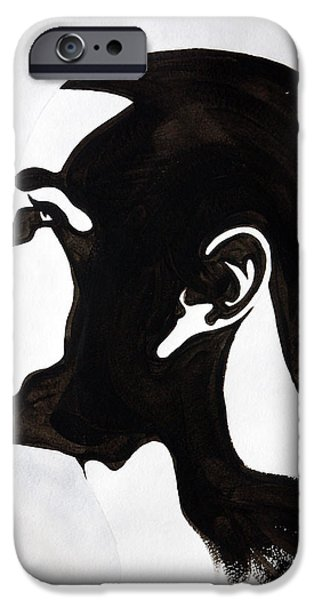Jay Z Paintings iPhone Cases - J. Cole iPhone Case by Michael Ringwalt
