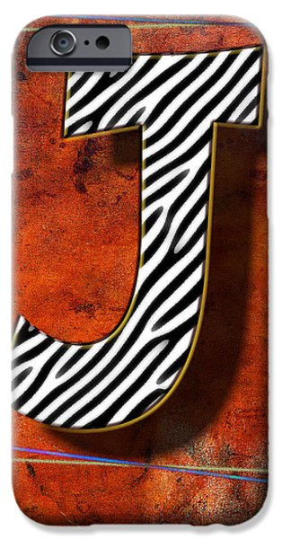 D.c. Pyrography iPhone Cases - J iPhone Case by Mauro Celotti