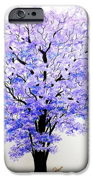 Fauna Pastels iPhone Cases - Jacaranda Time iPhone Case by Karin Kelshall- Best