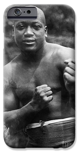 Strong America iPhone Cases - Jack Johnson (1878-1946) iPhone Case by Granger