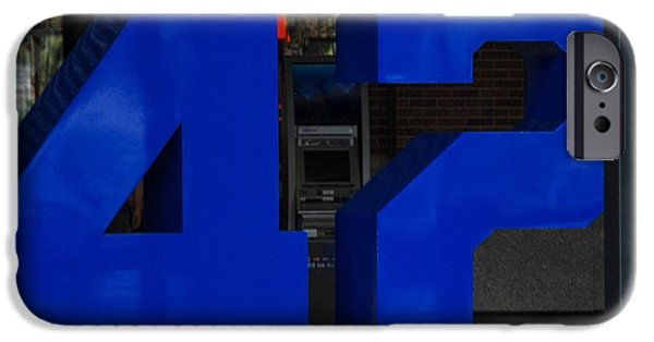 Shea Stadium iPhone Cases - Jackie Robinson 42 iPhone Case by Rob Hans