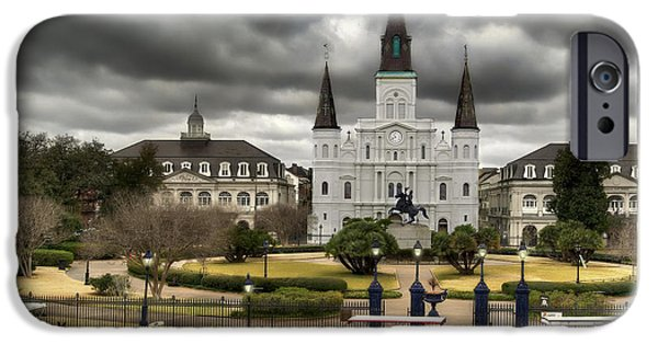 Carriages iPhone Cases - Jackson Square New Orleans iPhone Case by Don Lovett