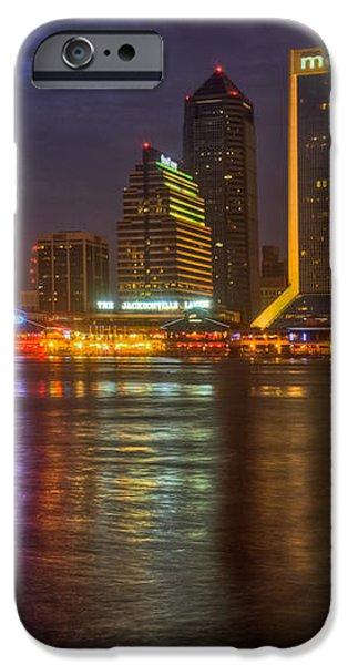 Jacksonville at Night iPhone Case by Debra and Dave Vanderlaan