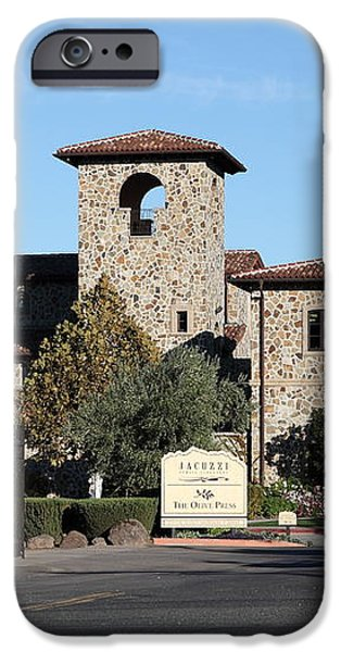 Jacuzzi Family Vineyards - Sonoma California - 5D19322 iPhone Case by Wingsdomain Art and Photography