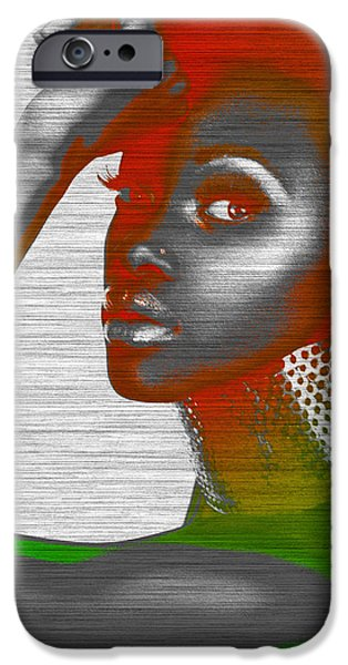 Africans iPhone Cases - Jada iPhone Case by Naxart Studio