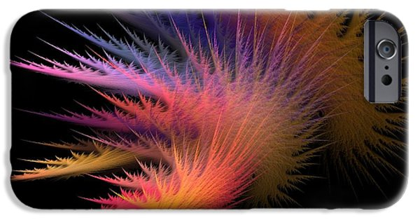 Abstract Digital Digital Art iPhone Cases - Jagged Edge iPhone Case by Lourry Legarde