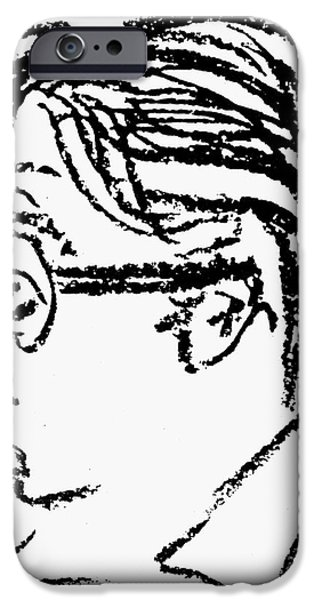 JAMES GROVER THURBER iPhone Case by Granger