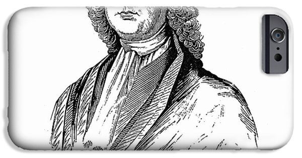 Autographed iPhone Cases - James Logan (1674-1751) iPhone Case by Granger