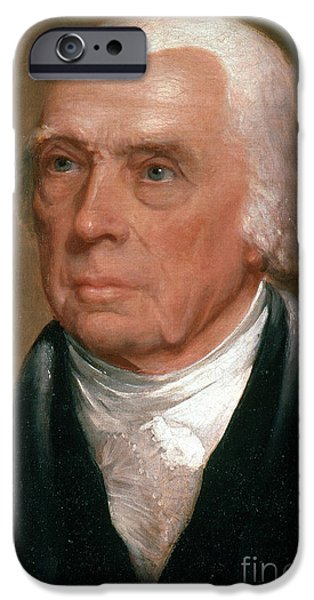 Constitution iPhone Cases - James Madison, 4th American President iPhone Case by Photo Researchers