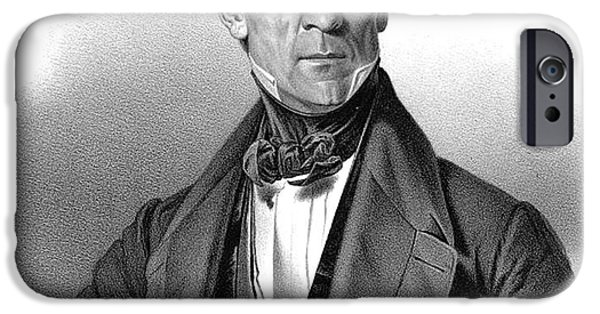 Smithsonian iPhone Cases - James Polk, 11th American President iPhone Case by Photo Researchers