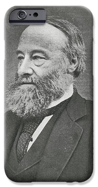 Prescott iPhone Cases - James Prescott Joule, British Physicist iPhone Case by Science, Industry & Business Librarynew York Public Library