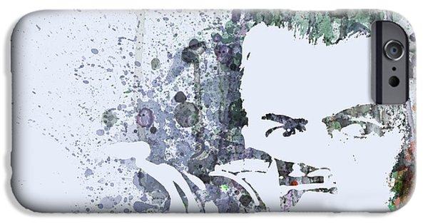 Actor Paintings iPhone Cases - James Steward  Rear Window iPhone Case by Naxart Studio