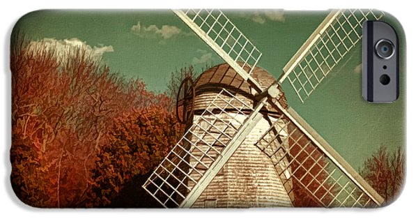 Rhode Island iPhone Cases - Jamestown Windmill iPhone Case by Lourry Legarde