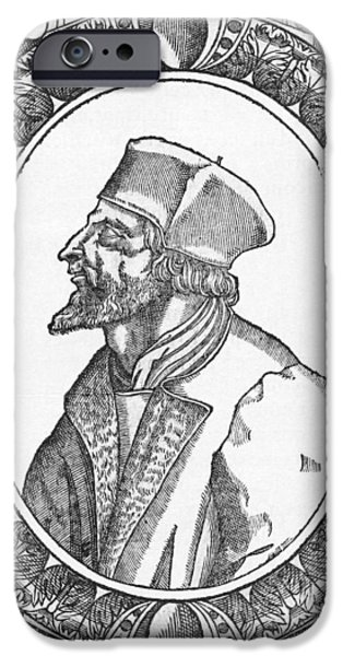Jan Hus, Czech Religious Reformer iPhone Case by Middle Temple Library