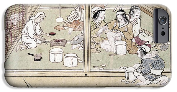Japan House iPhone Cases - Japan: Childbirth, 1329 iPhone Case by Granger