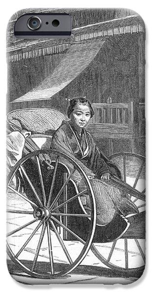 JAPAN: RICKSHAW, 1874 iPhone Case by Granger