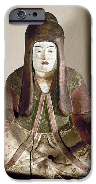 Statue Portrait iPhone Cases - JAPAN: STATUE, 9th CENTURY iPhone Case by Granger