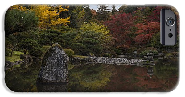 Japanese Garden iPhone Cases - Japanese Garden Serenity iPhone Case by Mike Reid
