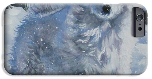 Japanese Dog iPhone Cases - Japanese spitz iPhone Case by Lee Ann Shepard