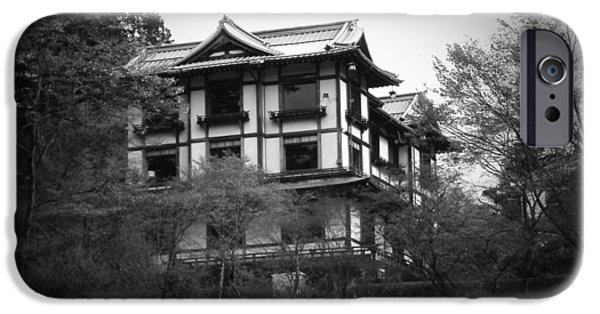 Pagoda iPhone Cases - Japanese Traditional House iPhone Case by Naxart Studio