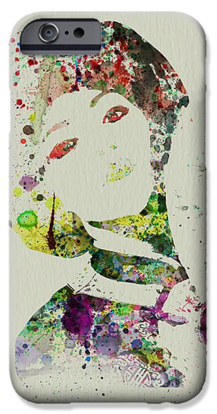 Japanese woman iPhone Case by Naxart Studio