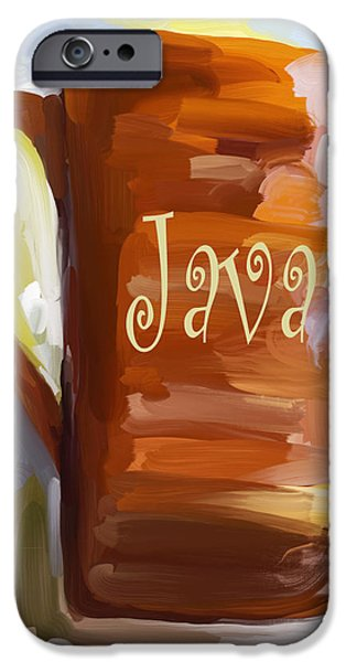 Java Coffee Cup iPhone Case by Jai Johnson