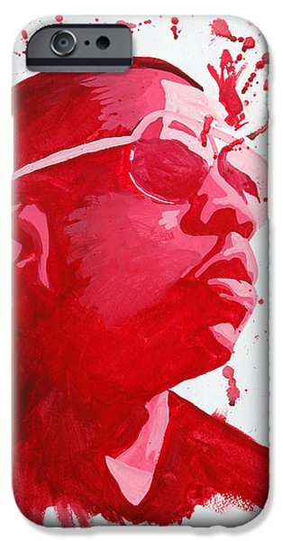 Jay Z Paintings iPhone Cases - Jay-Z iPhone Case by Michael Ringwalt